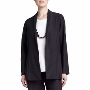 EILEEN FISHER WOMAN BLACK OPEN DRAPED CARDIGAN 2X